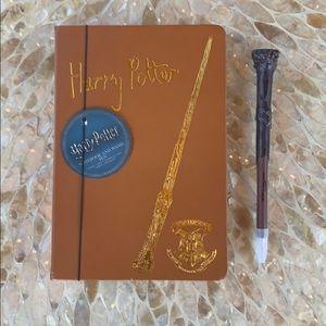 Harry Potter Hogwarts Journal & Wand